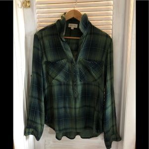 Tops - Cloth & Stone; NWOT; long sleeve shirt; plaid